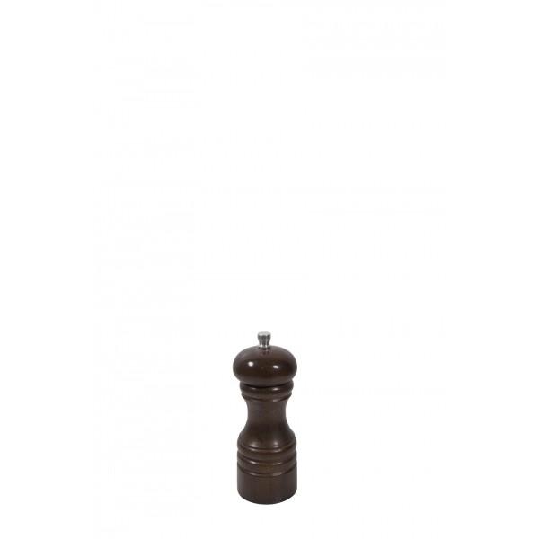 Drewniany młynek do przypraw ciemny brąz, wys. 12cm