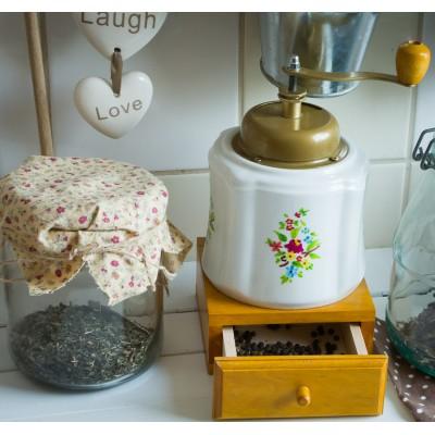 NAJPIĘKNIEJSZY młynek do kawy, pieprzu z korbką (drewno + ceramika)